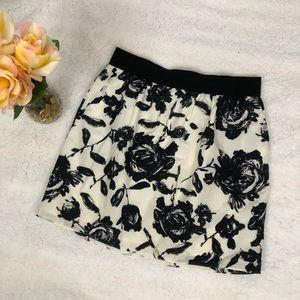 Ann Taylor Loft Floral Mini Skirt Sz 8